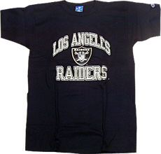 NFL グッズ 90'S Champion DeadStock Vintage Heavy Weight T-shirt LA Raiders ロサンゼルス レイダース 通販 上野