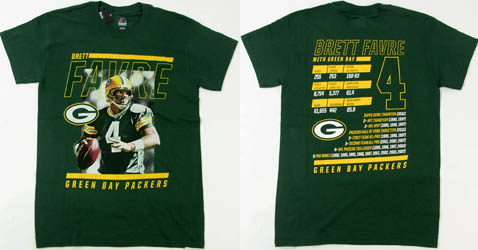 NFL Green Bay Packers Brett Favre ( ブレッド・ファーブ ) Tシャツ