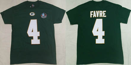 NFL Pro Football Hall of Fame Green Bay Packers Brett Favre ( ブレッド・ファーブ )背番号Tシャツ